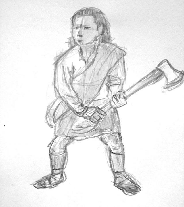 croquis-guerrier